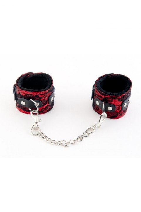 MARCUS 711002 Hand cuffs with metal chain tracery syntetic red bdsm Valentine day