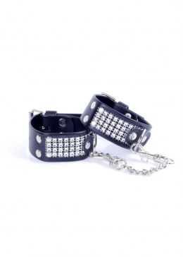 Fetish Boss Series Handcuffs with cristals 3 cm Silver