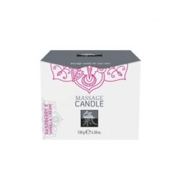 Świeca-Shiatsu Massage Candle Raspberry & Vanilla Cream 130g.