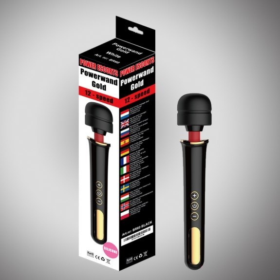 Powerwand gold black big size wand massager 12 speed rech