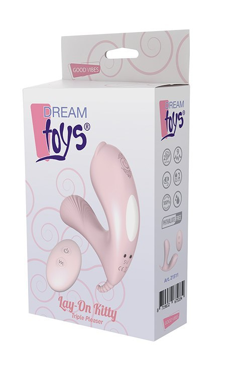 Wibrator-DREAM TOYS LAY-ON KITTY PLEASER